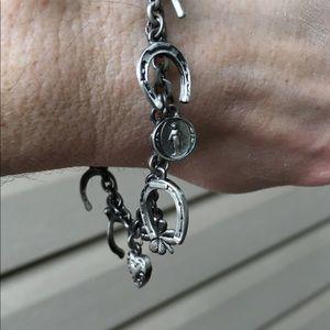 "Jewelry - Pewter ""Lucky"" bracelet"